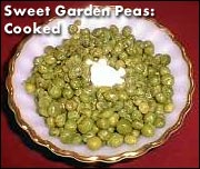 Dehydrated Sweet Garden Peas Cooked