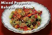 Dehydrated Mixed Peppers Cooked