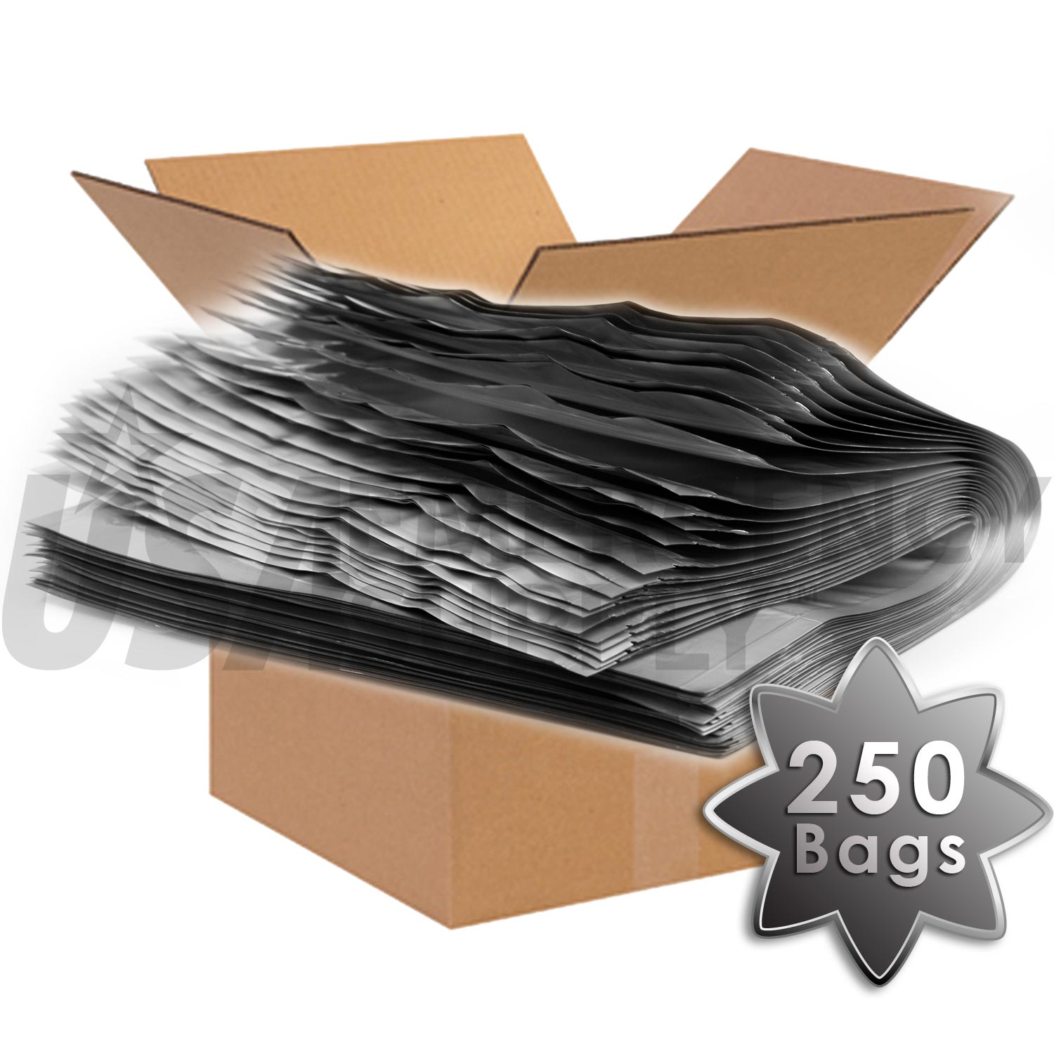 1 5 Gallon Mylar Bags With Ziplock 4 Mils 12in X 16in 6in Case Of 250
