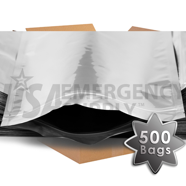1 Gallon Mylar Bag With Ziplock Case Usa Emergency Supply