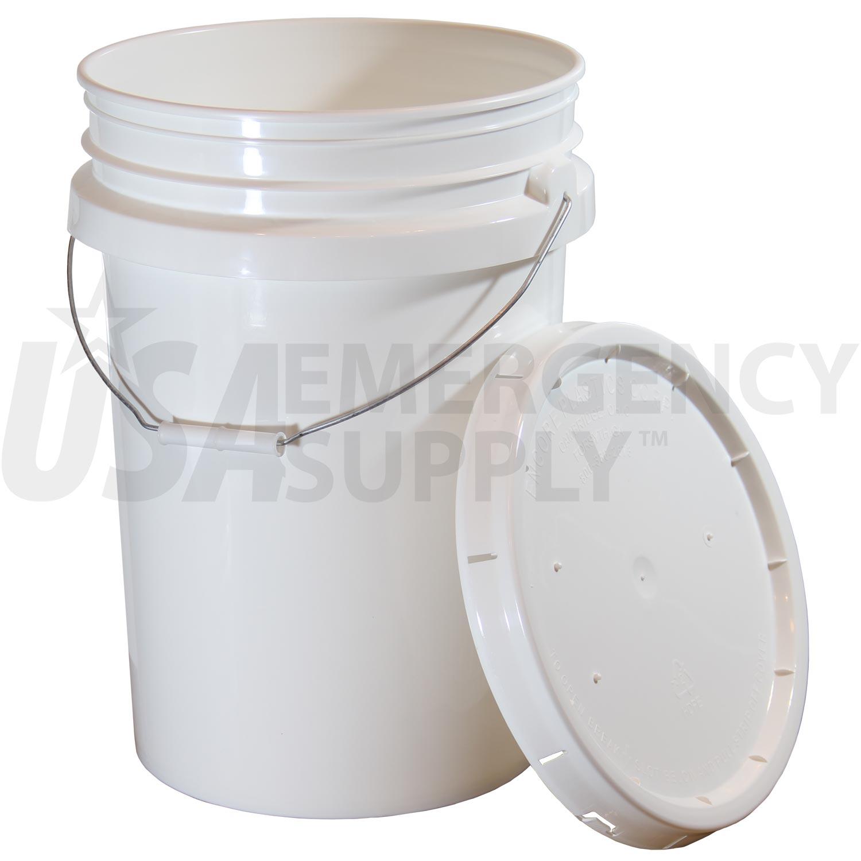 6 Gallon Premium Titanfood Storage Bucket With Rubber