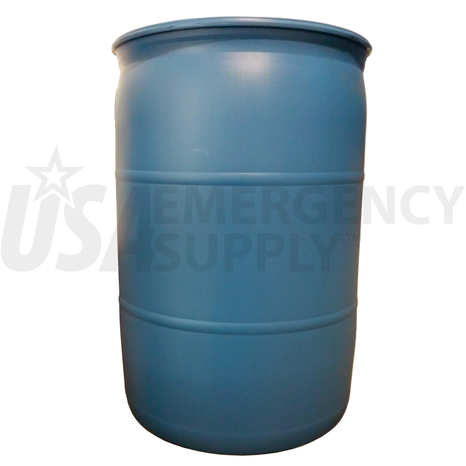 Fifty Five Gallon Water Barrel USA Emergency Supply