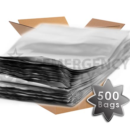 CASE - Mylar Bags - Mylar Food Storage Bag with Ziplock 10in. x 14in. X 4in. (5.4 mils thick) - 1 case (500 bags)