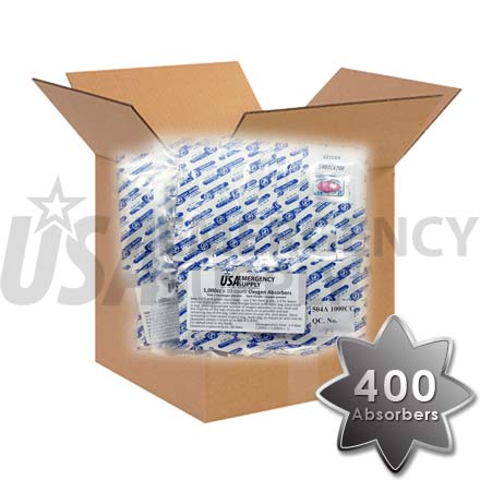 CASE - Food Storage Oxygen Absorbers D1000 (1000cc) - 1 case