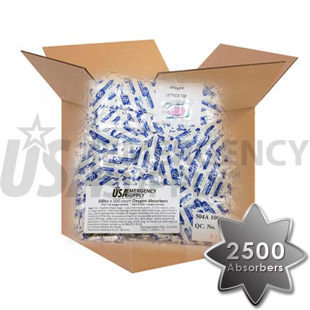 CASE - Food Storage Oxygen Absorbers D100 (100cc) - 1 case