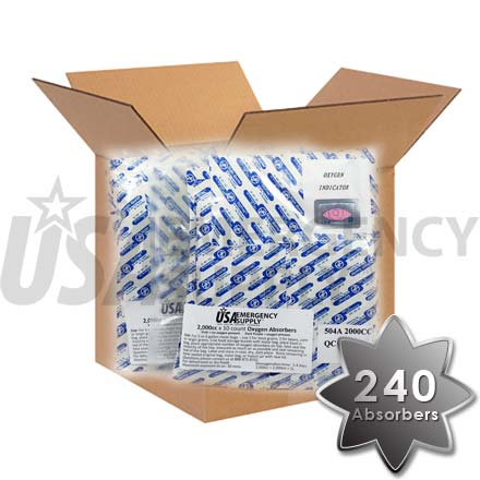 CASE - Food Storage Oxygen Absorbers D2000 (2000cc) - 1 case