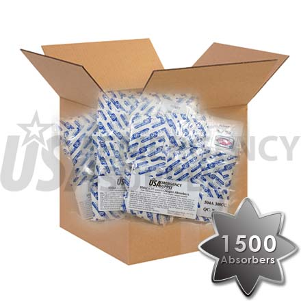 CASE - Food Storage Oxygen Absorbers D300 (300cc) - 1 case