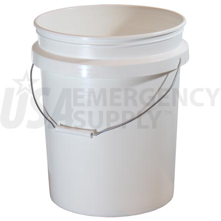 Food Storage Buckets - 5 Gallon Titan Plastic Bucket without Lid