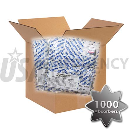 CASE - Food Storage Oxygen Absorbers D500 (500cc) - 1 case