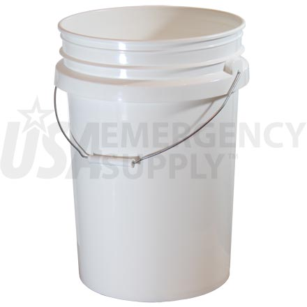 Food Storage Buckets - 6 Gallon Titan Plastic Bucket without Lid