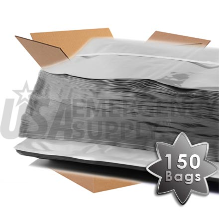 CASE - Mylar Bags - Mylar Food Storage Bag 20in. x 30in. (5 mils thick) - 1 case (150 bags)