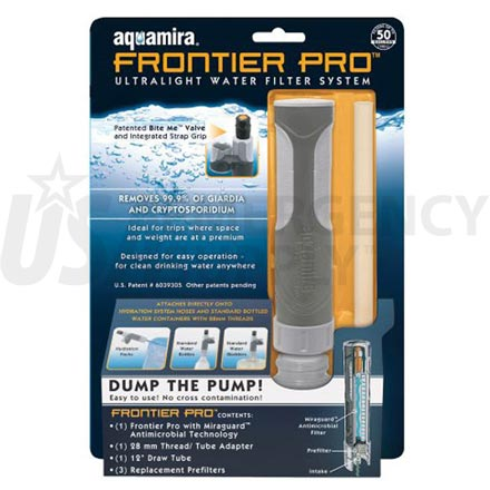 Water Purification - Aquamira Frontier Pro Filter System