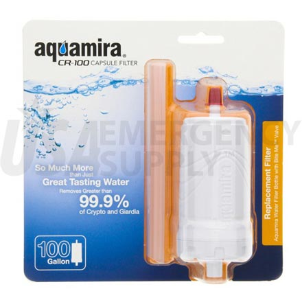 Water Purification - Aquamira Water Bottle Replacement Filter CR-100