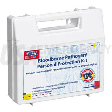Bloodborne Pathogen/Personal Protection Kit w/Microshield