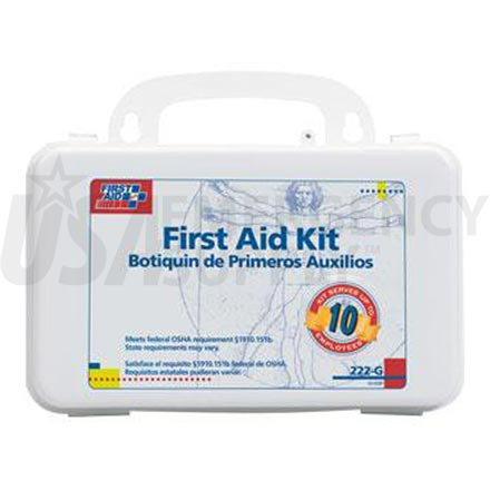 Bulk First Aid Kit - 10 Person, Plastic w/Gasket