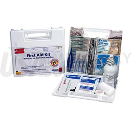 Bulk First Aid Kit - 25 Person Plastic case w/Dividers