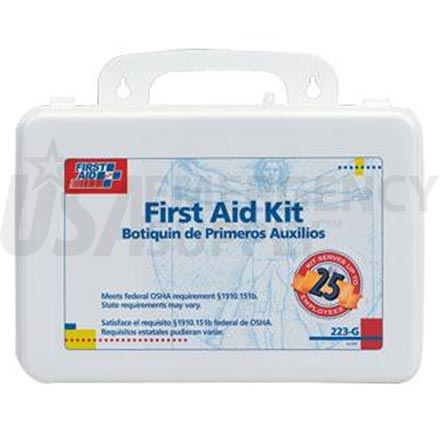 Bulk First Aid Kit - 25 Person Plastic case w/Gasket