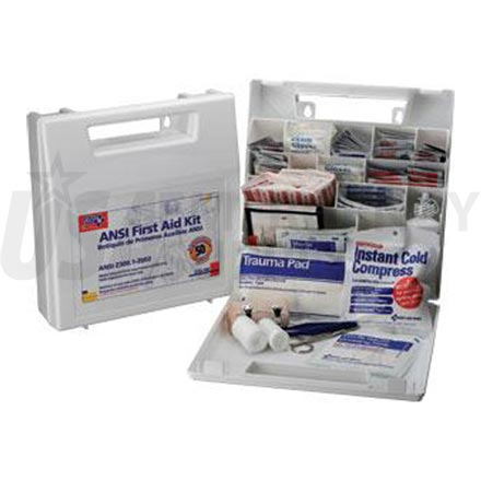 Bulk First Aid Kit, ANSI - 50 Person, Plastic w/Dividers