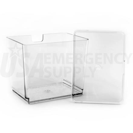 Country Living Grain Mill Accessories - Clear Polymer Flour Bin with Storage Lid