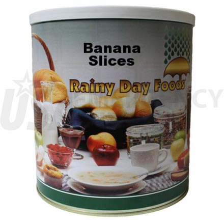 Banana - Dehydrated Banana Slices 36 oz. #10 can