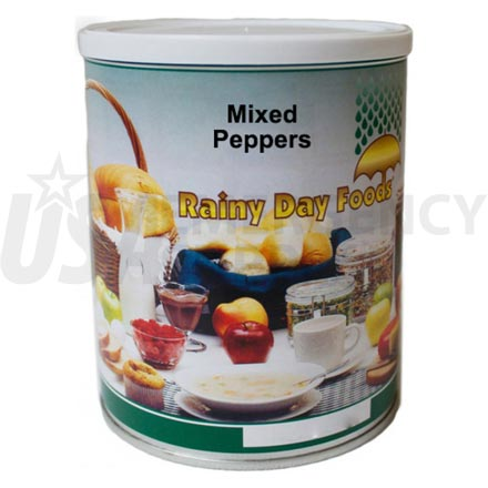 Peppers - Dehydrated Mixed Peppers Red & Green 6 x #2.5 cans