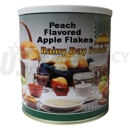 Peach - Dehydrated Peach Flavored Apple Flakes 40 oz. #10 can