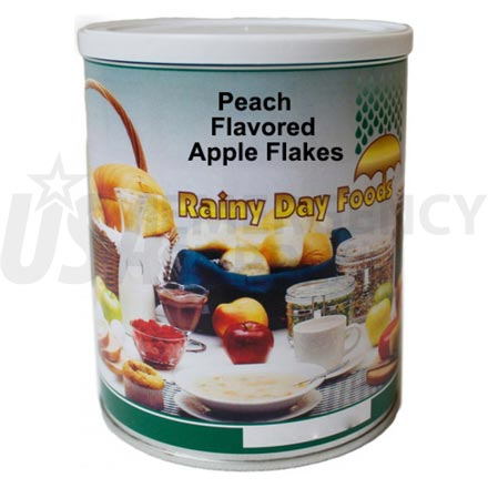 Peach - Dehydrated Peach Flavored Apple Flakes 10 oz. #2.5 can