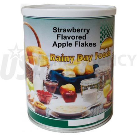 Strawberry - Dehydrated Strawberry Flavored Apple Flakes 10 oz. #2.5