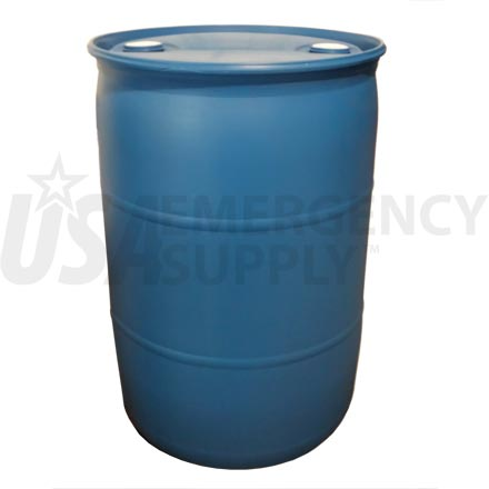 Water Drum - Fifty-Five (55) Gallon Water Barrel - Blue Poly