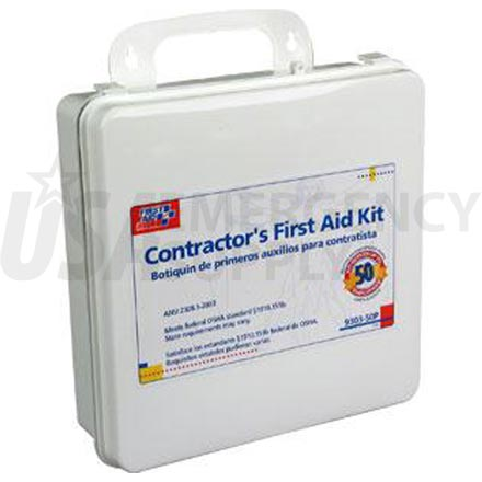 50 Person, 236 Piece Bulk Contractors Kit, Plastic case w/Gasket