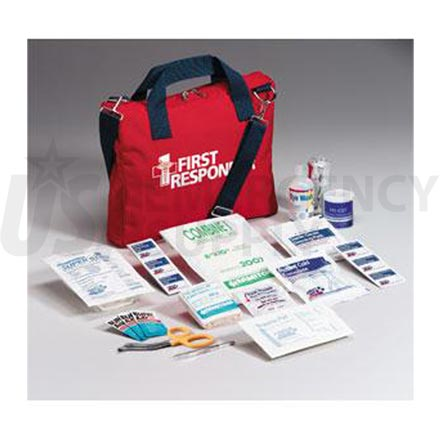 First Responder Kit, 120 Piece Medium Red Bag
