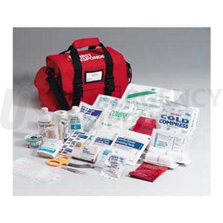First Responder Kit, 158 Piece Large Red Bag