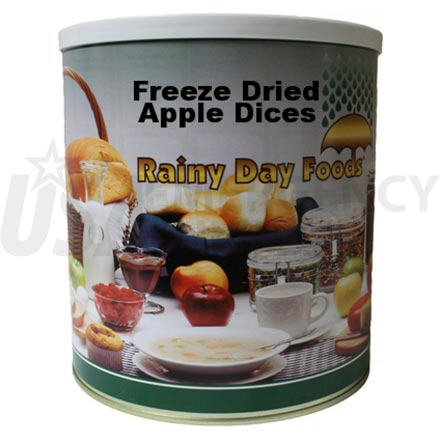 Freeze Dried Apple Dices 10 oz. #10 can