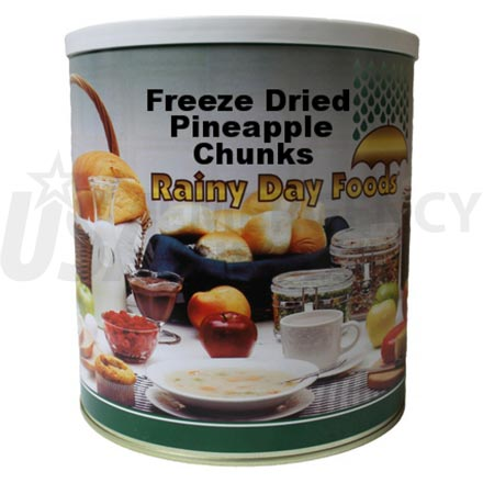 Freeze Dried Pineapple Chunks 6 x #10 cans