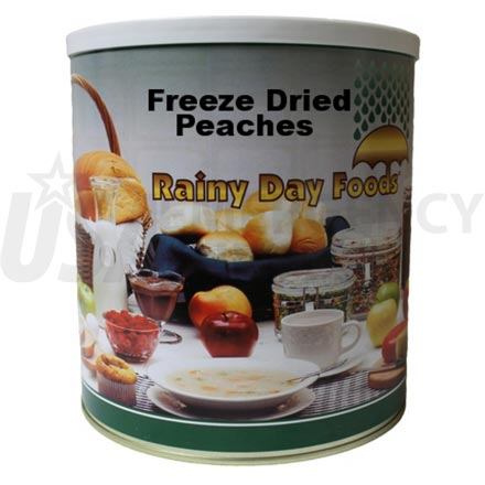 Freeze Dried Sliced Peaches 16 oz. #10 can