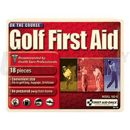 Golf First Aid Kit, 18 pc - Plastic case