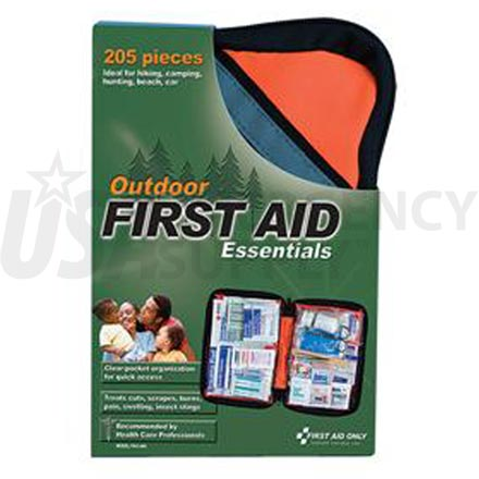 Outdoor First Aid Kit, Softsided, 205 pc - Large