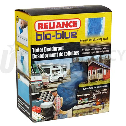 Toilet Chemicals - Reliance Bio Blue Toilet Deodorant - 12 pack