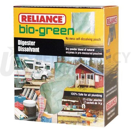 Toilet Chemicals - Reliance Bio Green Waste Digester - 12 pack