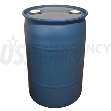 Water Drum - Thirty (30) Gallon Water Barrel - Blue Poly