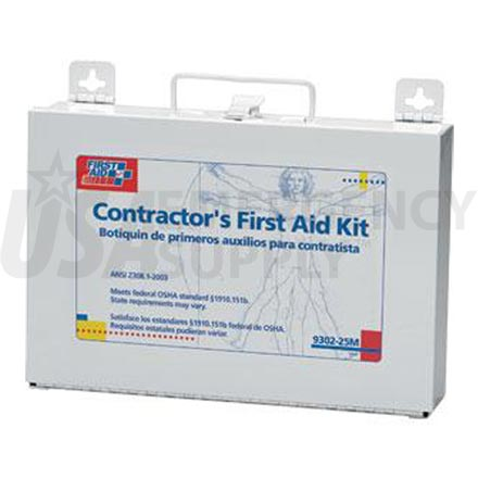 25 Person, 176 Piece Bulk Contractors Kit, Metal case