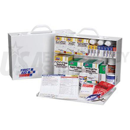 2 Shelf Industrial First Aid Station - 75 Person