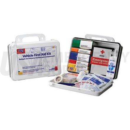 Vehicle First Aid Kit, 93 pc - Plastic case w/Gasket