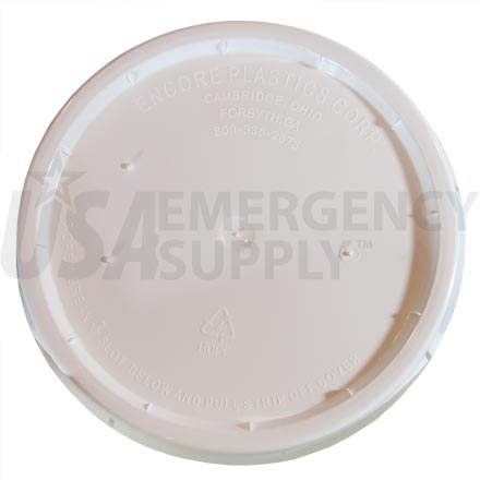 Extra White Standard Lid with Rubber Gasket for Food Storage Buckets